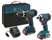 Bosch 18V Combo Kit - DDS181 & IDS181 w/2 Slim Pack Batteries
