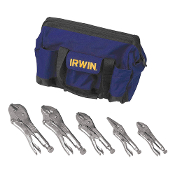 IRWIN Vise-Grip 5 pc. Locking Plier Set with Tool Bag