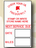 Service Reminder Sticker - 1,000 ct.
